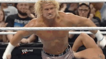 Finding out you have more money in your bank account than you originally thought: | 28 Incredible Wrestling GIFs That Apply To Your Everyday Life