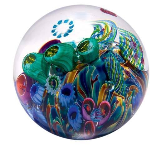 Glass Eye Studio Cool Pool Paperweight: