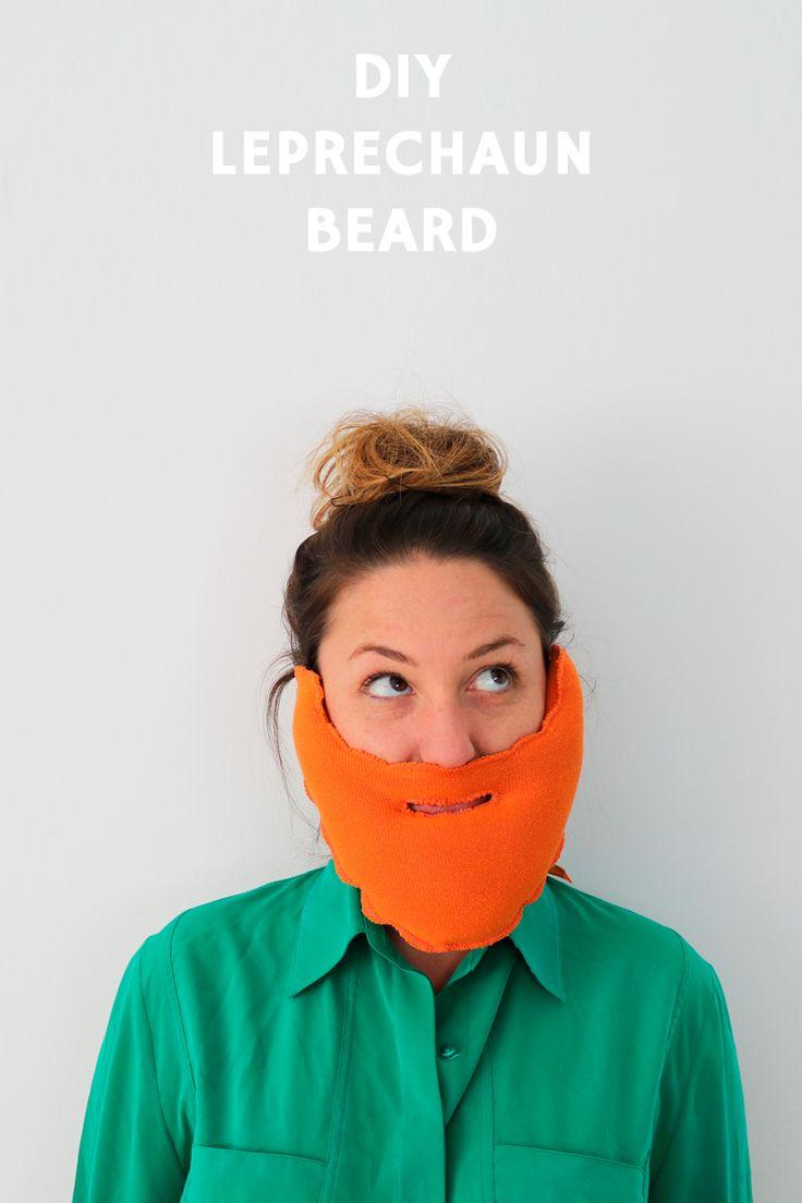 DIY Leprechaun beard tutorial free pattern   Tutorial barba DIY de Leprechaun con plantilla gratis Saint Patrick costume disfraz