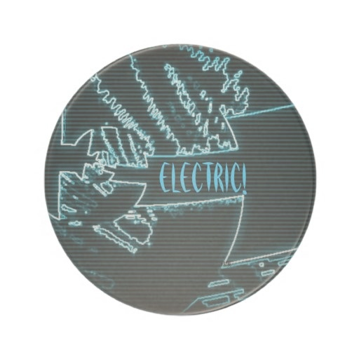 Electric! Shocking Blue/Black Drink Coaster