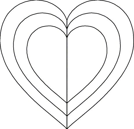 25 best ideas about heart template on pinterest for Full page heart template