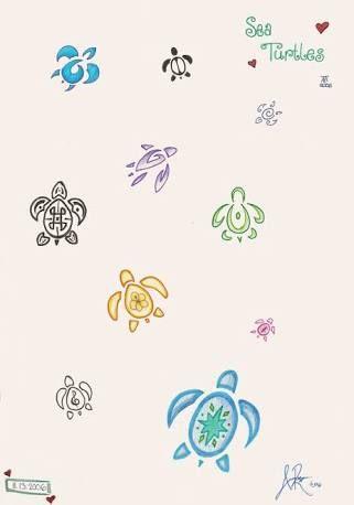 Картинки по запросу baby sea turtle tattoo