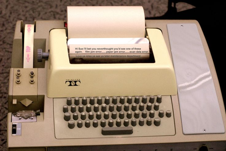 A Model 33 ASR Teletype IN THE 1970'S THIS WAS THE INPUT ...
