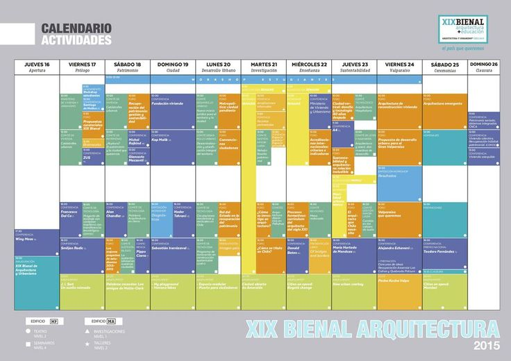Programación #Bienal de #Arquitectura