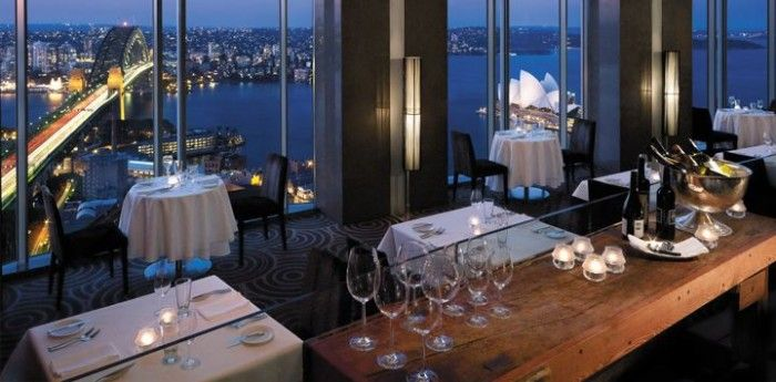 Blu Bar on 36, Shangri La Sydney -  Sydney's piece de resistance has and always will be its beautiful harbour. The bright lights of the Harbour Bridge, Opera House, ferries, commuters and buildings paint a brilliant picture once the sun has gone down. The best view in town is from Shangri-La Sydney's Blu Bar on level 36. As the name suggests, ride the lift right up to the 36th floor and ask for a window seat.
