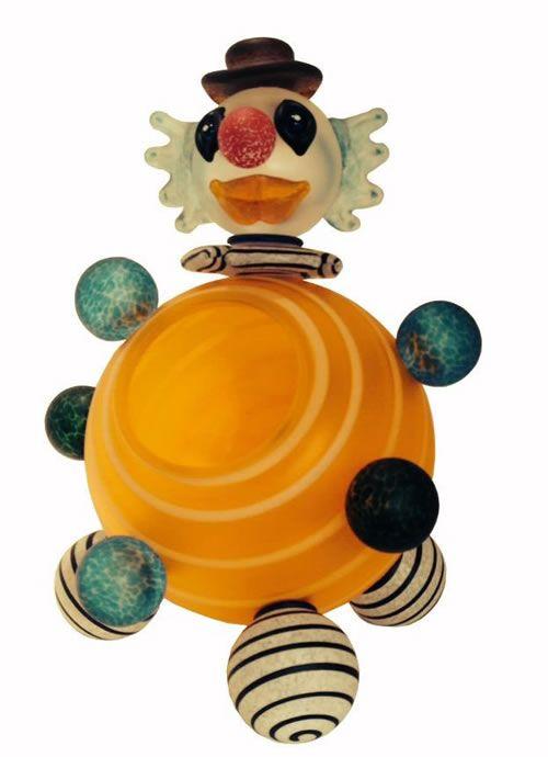 Clown Bowl, Orange- by Borowski