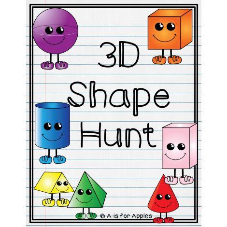 3D Shape Hunt {FREEBIE}