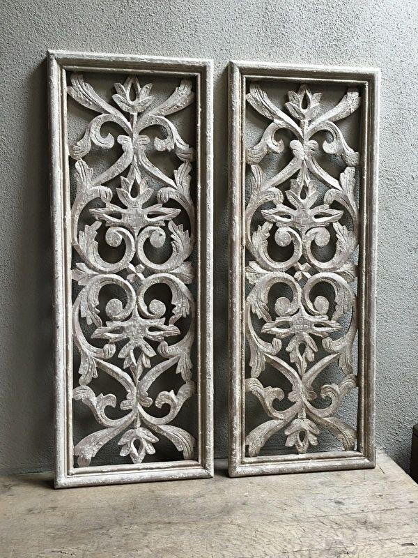 Stoer landelijk oud houten wandpaneel wandornament wanddecoratie hout panelen luiken