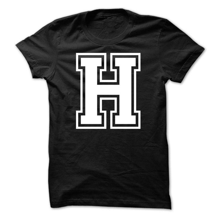 Letter H Tshirt Name Initials Design T Shirt Hoodie Human T Shirts T Shirt Printed Shirts Shirt Designs
