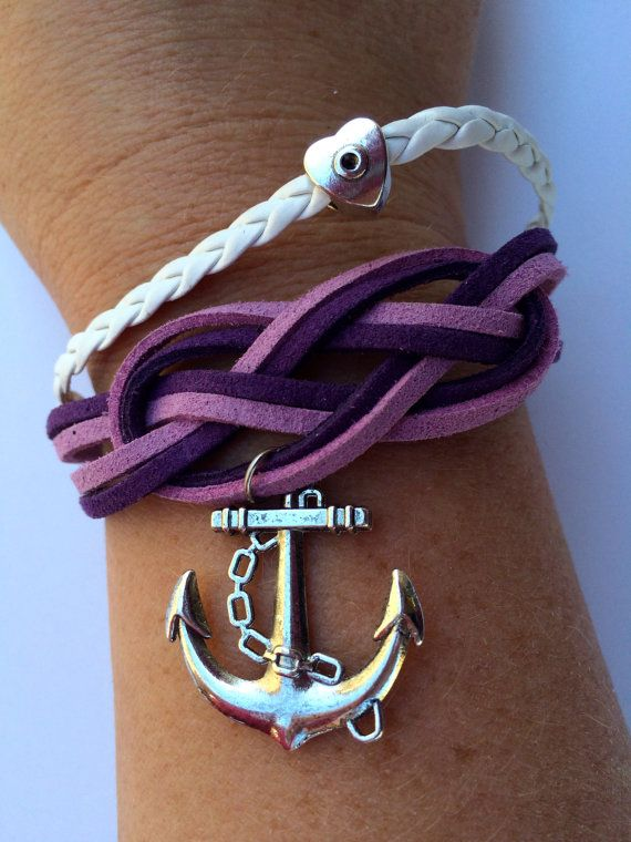Best Christmas Gifts For Young Women Part - 39: Embark In The Service Of God Anchor Bracelet Jewelry For Young Womens  Nautical Theme Faux Suede