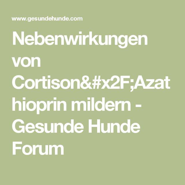 Nebenwirkungen von Cortison/Azathioprin mildern - Gesunde Hunde Forum
