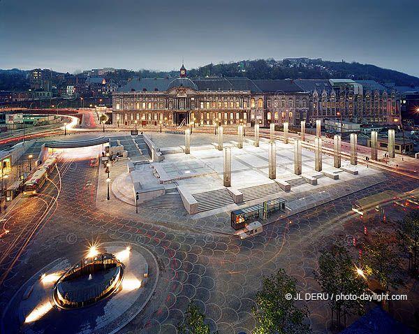 place Saint Lambert nuit voir CD420.jpg (600×478) | Liège