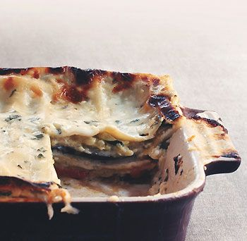 Roasted vegetables and Italian Fontina lend this lush-tasting lasagne a more intense flavor than than you'd get with the usual spinach and ricotta filling.