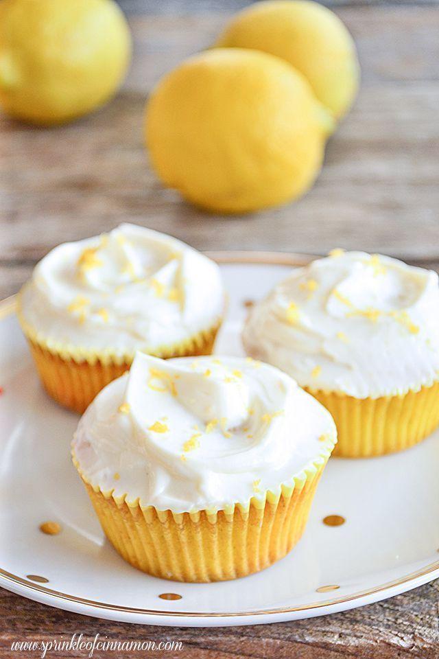 lemon cupcakes yummy cupcakes gourmet cupcakes sweet cupcakes cupcake ...