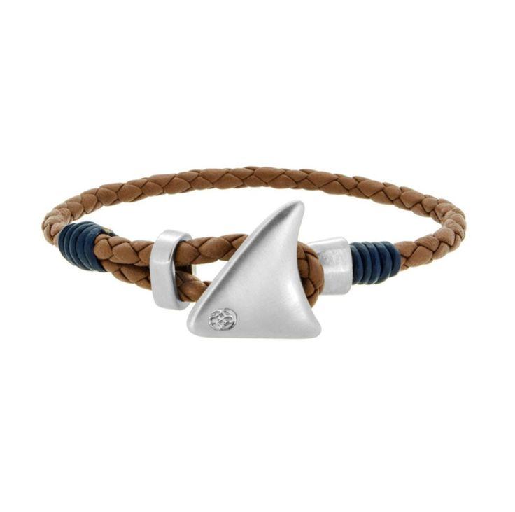 Hecha a Mano 100% Piel de Napa Trenzada (Saddle Tone) Detalles en Piel 100% Genuina Color Azul Aleta de Tiburón en tono Mate