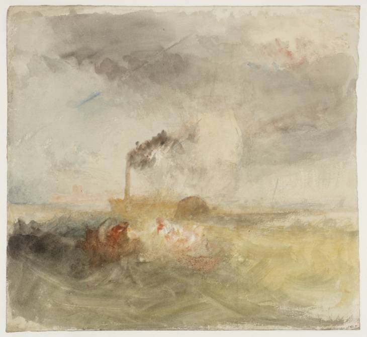JMW Turner. A Steamer off Portsmouth in a Storm.