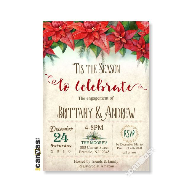 100 best Seasonal Invites images – Holiday Engagement Party Invitations