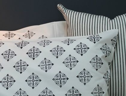 Black and White Pillowcases - Pair