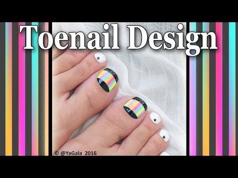 Summer toenail art / Яркий летний педикюр-дизайн - YouTube
