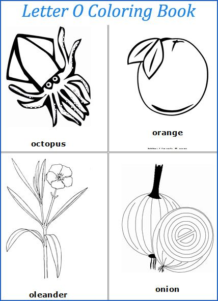 letter o words coloring page | o  is for alphabet | pinterest