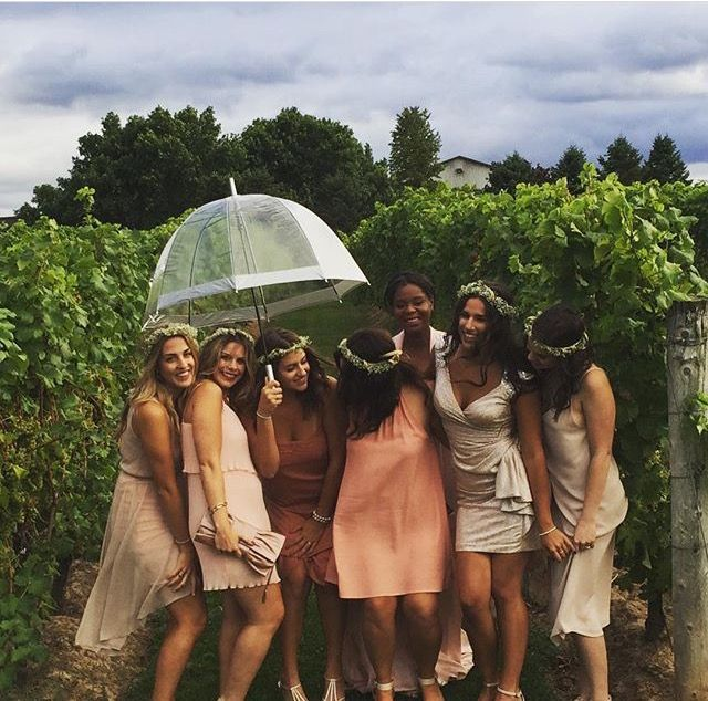 Bridesmaid shot! at Legends Estates Winery In Beamsville