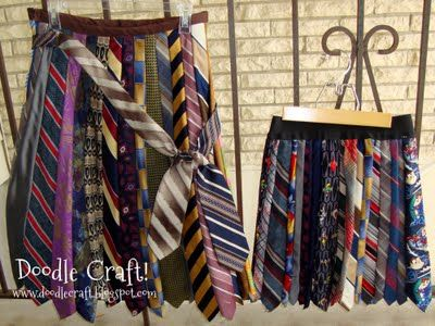 Check out these super cute skirts made from recycled neck ties.  This is such a fun and unique way to create something awesome!