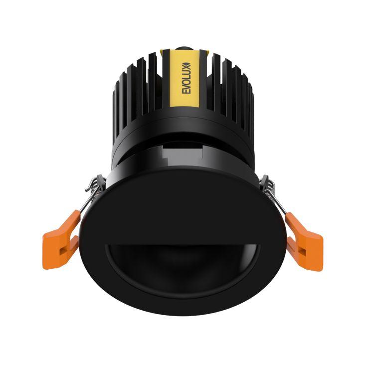 MagicDownlight LED Medialuna Negro