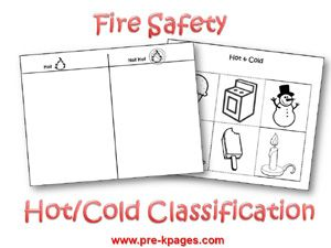 Free Printable Hot and Cold Classification Activity for #preschool and #kindergarten
