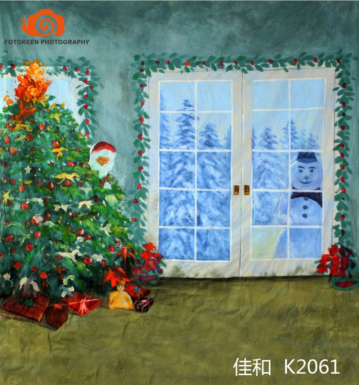 >> Click to Buy << 10X20ft Hand painted Muslin interior window photo backdrops,fotografia profissional,christmas tree photographic background K2061 #Affiliate