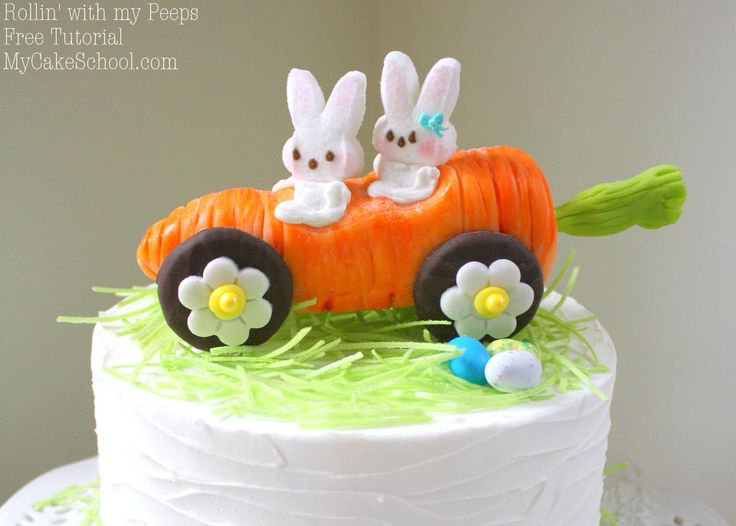 Rollin' with my Peeps!~ Carrot Car Cake Topper Tutorial