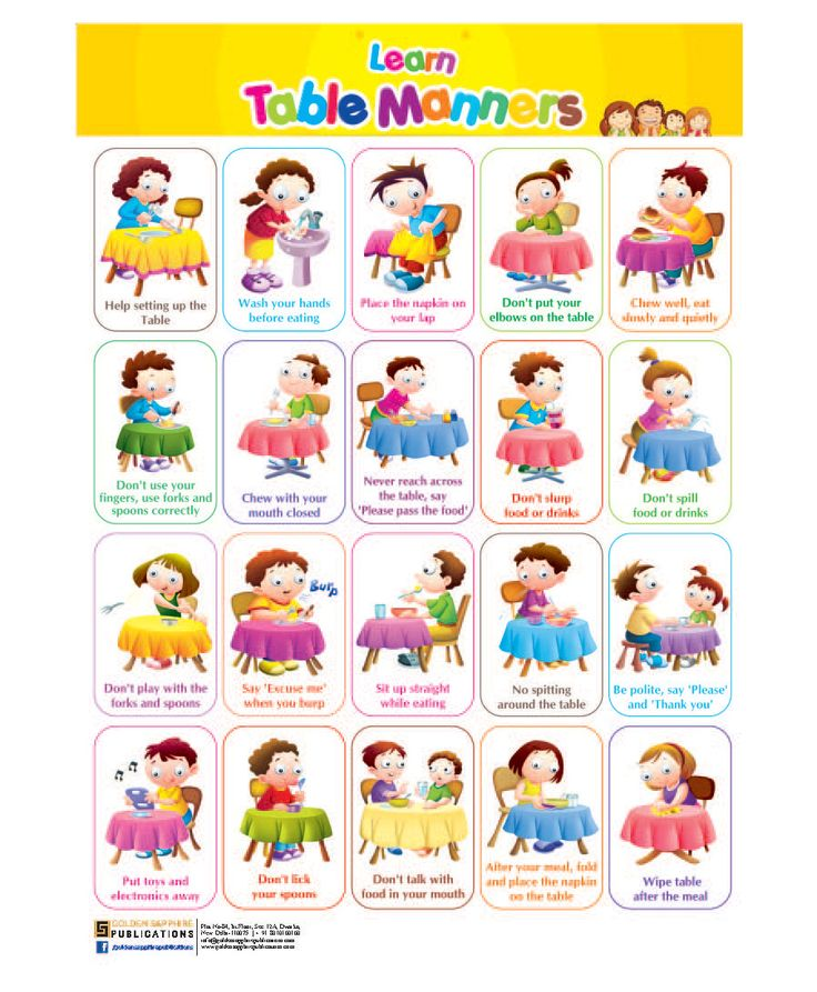 Image result for table manners for kids printable                                                                                                                                                                                 More