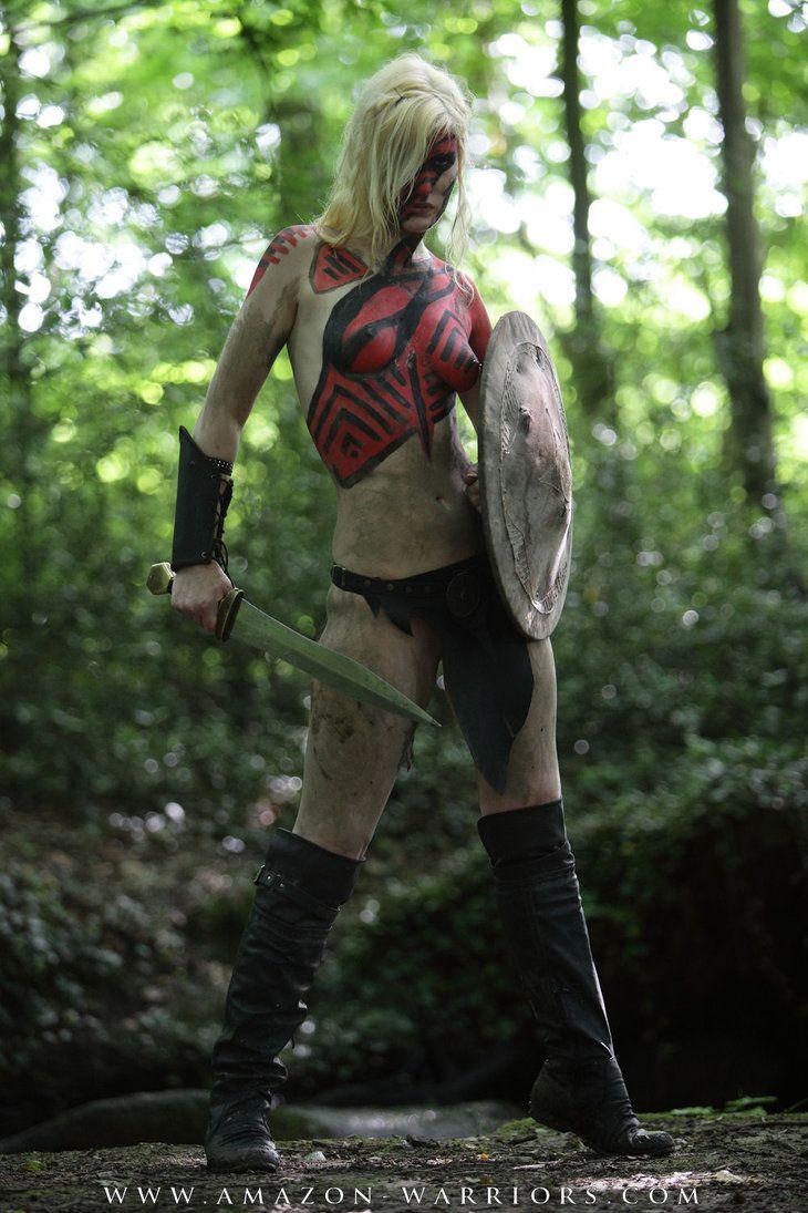 Sexy naked amazon warrior girl — pic 3