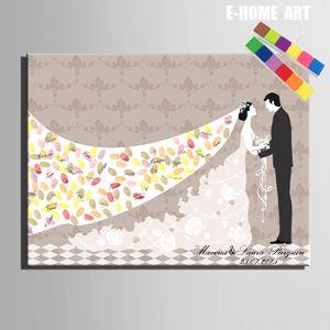 EHOME Arbre D'empreinte Digitale Signature Toile Peinture Mariée Marié De Mariage Cadeau de mariage décoration beaucoup de styles (Comprennent 6Ink Couleurs) dans   de   sur AliExpress.com | Alibaba Group