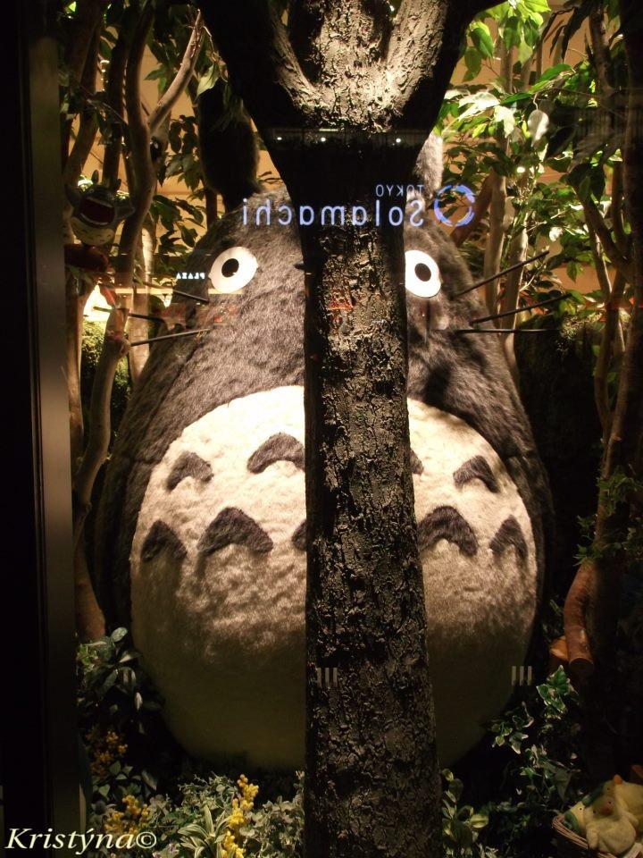 Obchod animačního studia Ghibli: na obrázku Tottoro. Možná od něj znáte filmy jako Můj soused Tottoro, Cesta do fantazie, Howlův chodící zámek nebo Hrob světlušek (či pod jejich anglickými/japonskými názvy). V Tokiu se nachází také muzeum tohoto studia (Ghibli museum).