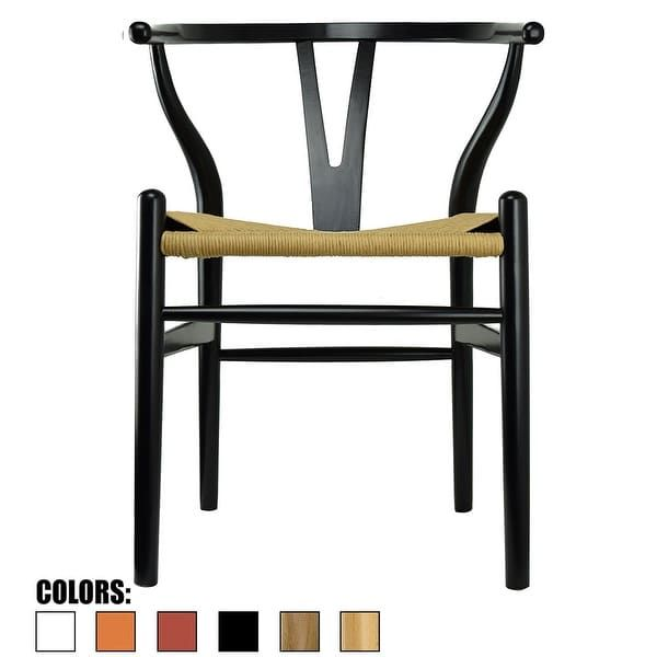 2xhome Modern Wood Dining Chair With Open Back Arm Armchair Hemp