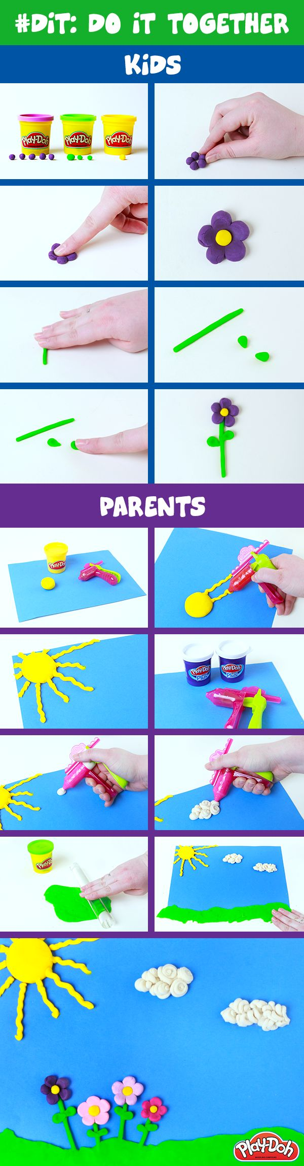 Why #DIY when you can do it together? Try this craft project with your kids! #DIT