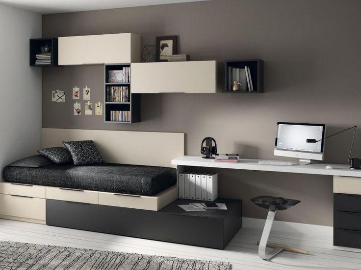dormitorio juvenil tipo torre con zona estudio de muebles jjp www.moblestatat.com barcelona