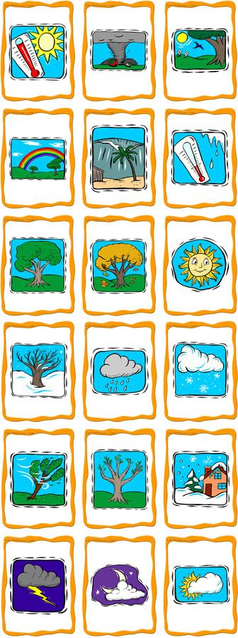 GREAT flashcards for weather vocab