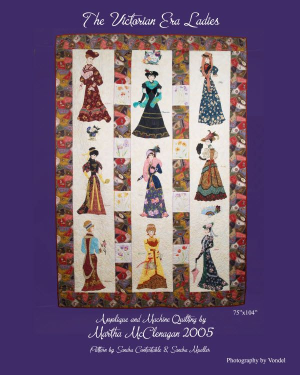 victorian quilt patterns | beginning August, 2003. Pattern distributed by Plain & Fancy Quilts ...