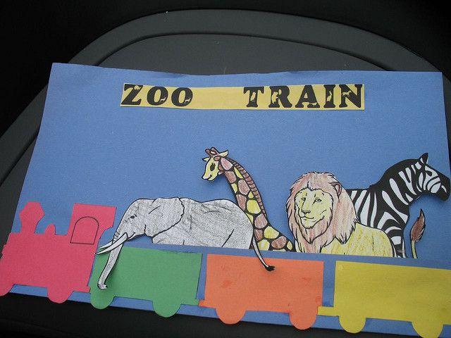 Zoo Train Craft by englischspielgruppe, via Flickr