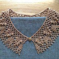 レース編み*付け襟の画像