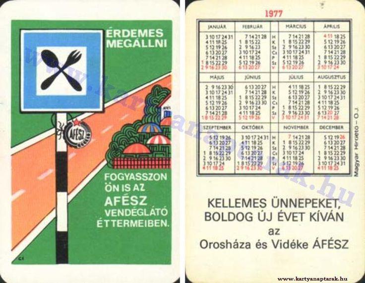 1977 - 1977_0711 - Régi magyar kártyanaptárak