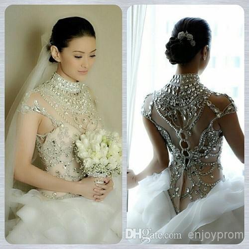 Платья свадебные с блестками