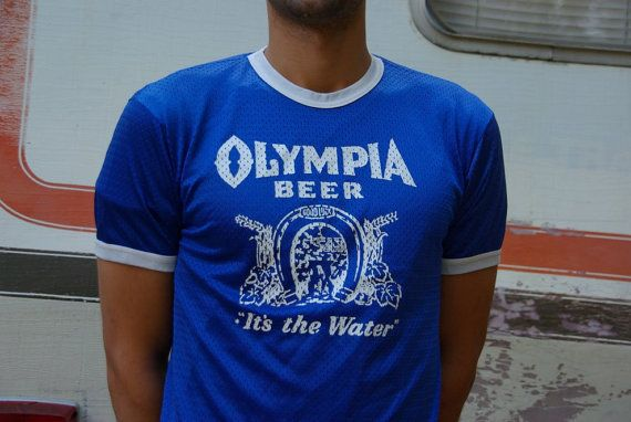 1970s mesh olympia beer ringer m l shirts and clothes i want beer shirts beer vintage outfits. Black Bedroom Furniture Sets. Home Design Ideas