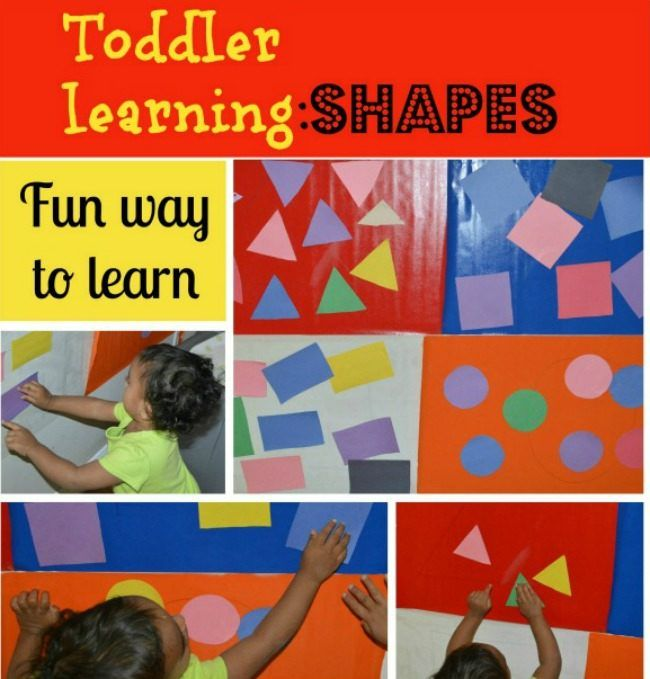 Shapes for #children using contact paper - fun & #educational way to learn! (pinned by Super Simple Songs) #resources