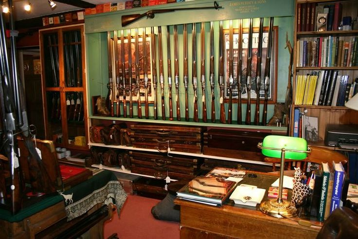 Office gun room custom home ideas pinterest antiques for Home gun room