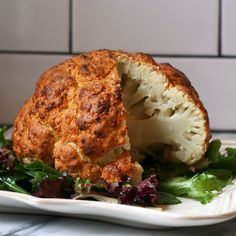 Spicy Whole Roasted Cauliflower – More at http://www.GlobeTransformer.org