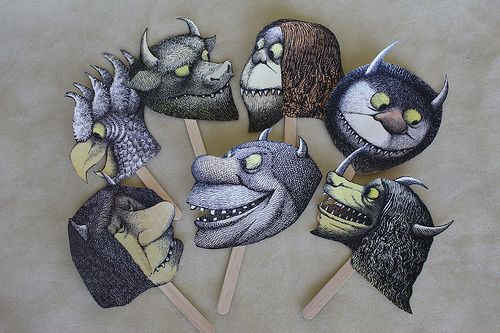 where the wild things are printable masks