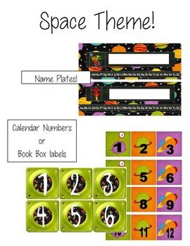 Space Theme Classroom Materials
