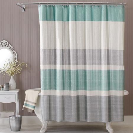 This would go perfectly with the towels we got from Costco. Better Homes and Gardens Glimmer Shower Curtain